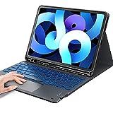 Earto Beleuchtete Tastatur Hülle mit Touchpad für iPad Pro 11