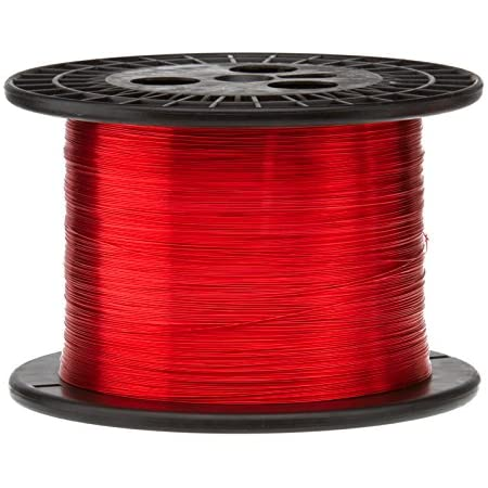 4 oz Heavy Build Enameled Copper Wire Natural 4840 Length 38 AWG Magnet Wire 0.0049 Diameter