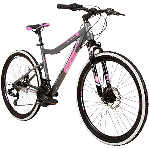 Galano GX-26 26 Zoll Damen/Jungen Mountainbike Hardtail MTB (grau/pink, 44cm)