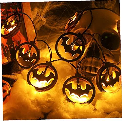 Sraeriot Lámparas de Cadena de batería, Luces de Cadena LED de murciélago 20 Leds Decorative Fairy Battery Battery String Lights Copper Wire Light