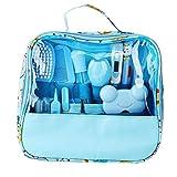 Kit de cuidado de uñas para bebés, juego de cuidado de la salud y aseo personal de 13 piezas Juego de limpieza para cuidado de uñas Juego de artículos de guardería para bebés(Azul)