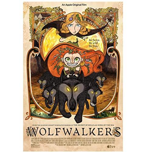 Wolfwalker (2020) Protagonizada por: Sean Bing Fantasía/Película de aventuras Tendencia de moda Hermosa decoración de arte para el hogar Póster Decoración de pared Regalo -20x28 pulgadas Sin marco