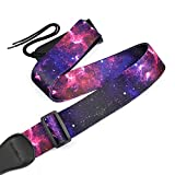 CLOUDMUSIC Strap Starry Night Purple Blue Starry Sky Galaxy Pattern (Purple Galaxy Guitar Strap)