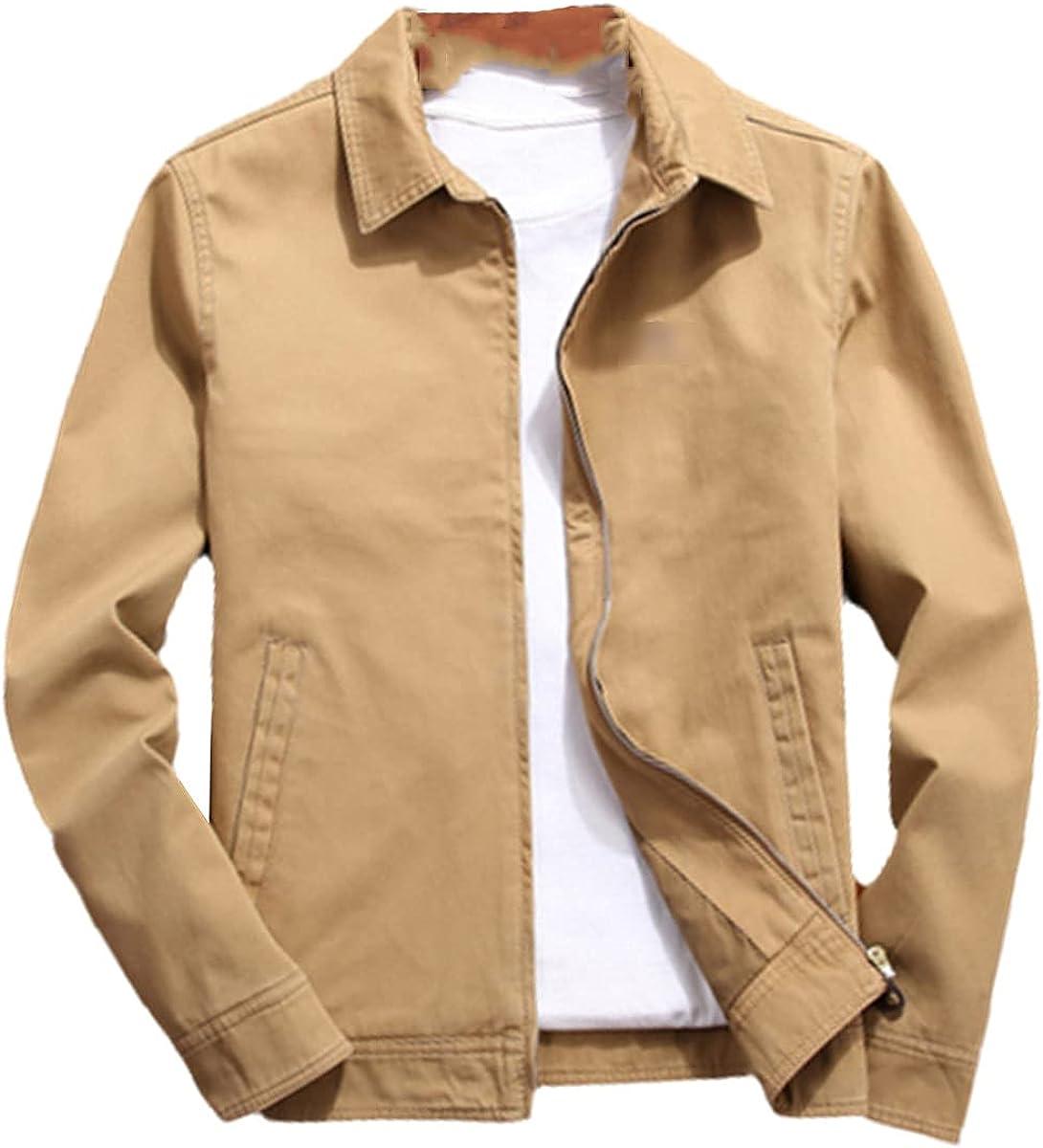 Fall Men's Bomber Jacket Jacket Cotton Jacket Fashion Slim Lapel Business Jacket Men's Clothing