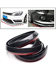 PRIKNIK Carbon Finish Front Bumper Lip Stickon Car Body Kit Bumper Lip Side Skirt Rubber Edge Decorative Protector Trim- Compatible with Volkswagen Polo GT