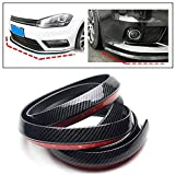 PRIKNIK Carbon Finish Front Bumper Lip Stickon Car Body Kit Bumper Lip Side