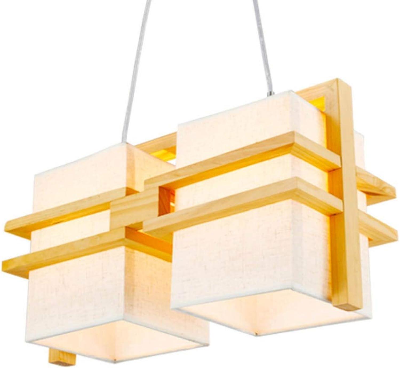 Japanische Leuchter-Restaurant-Tatami-Kaffeestube-Wohnzimmer-Leuchter der hlzernen Lampe (Farbe   5W Warm-Doppelt)