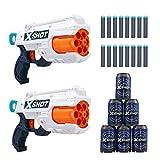 XShot Excel Double Reflex 6 Foam Dart Blaster Combo Pack (16 Darts 6 Cans) by Zuru, Multicolor (36404)