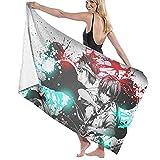 ZDmood Toalla de baño de Microfibra Food Wars Yoga portátil de la natación de la Aptitud de la Toalla de Playa de Secado rápido 80X130CM