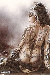 1art1 Luis Royo - Mädchen Mit Drachen-Tattoo Poster 91 x 61