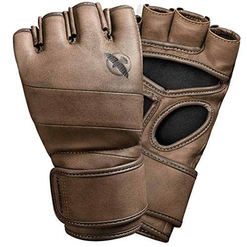 Hayabusa T3 LX Italian Leather 4oz MMA Fight Gloves for Men & Women - Brown, Small