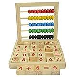 Cuentas de colores Ábaco de madera Matemáticas Educativas Contando Número Bloques Matemáticas Juguetes para Niños