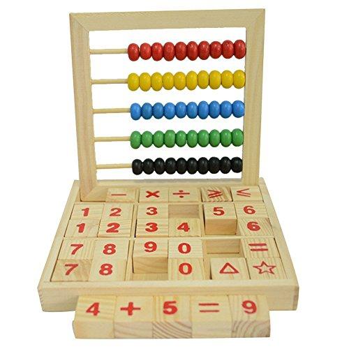 Haifly Bunt Hölzern Rechenrahmen Mathematik Spielzeug Abakus Zählrahmen Rechenschieber für Kinder Kid