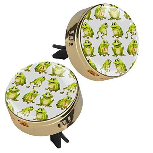MUOOUM Ranas sin costuras Perfume Coche Ambientador Coche Clip de Ventilación Fragancia Coche Olor Ambientador Difusor de Perfume