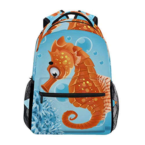 Bookbag Ocean Sea Life Aquatic Seahorse Mochila Escolar Informal Mochila De Regalo Mochila Laptop College...