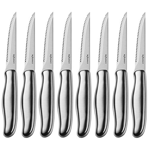 NEXGADGET Steak Knives Set3CR13 Stainless Steel Steak Knife Set of 8 for Chefs Commercial Kitchen  Ideal For BBQ Weddings  Dinners  Parties All Homes amp Kitchens