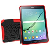 Galaxy Tab S2 9.7 (SM-T810 / T815 / T813) Case, YMH Full-Body [Heavy Duty] & [Shock Proof] Hybrid Armor Protective Silicone Case with Kickstand for Samsung Galaxy Tab S2 9.7 (1)