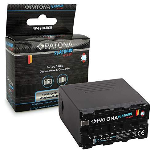 PATONA Platinum Bateria Compatible con Sony NP-F970 - LG-Celdas - con Micro-USB Input, 5V USB Output y Indicador de batería