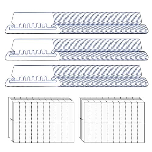 File Folder Tabs, 210+210 Sets Hanging File Folder Tabs with Inserts for Hanging Folders, 2 Inch Clear Plastic Hanging File Tabs for Quick Identification