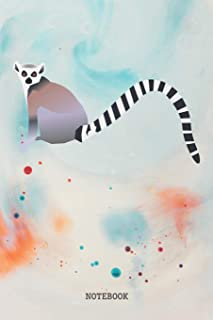 Notebook: Funny Lemur Planner / Organizer / Lined Notebook (6