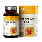 RS Berberina HCL Capsulas 400mg con Extracto de Pimienta Negra - 90 Cápsulas Veganas - Controle de Glucosa en la Sangre y del Metabolismo - Soporte Inmunológico - Sin OGM, Gluten y Alérgenos