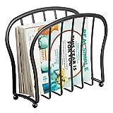 mDesign Revistero de Metal Decorativo para revistas, Libros o tabletas –...