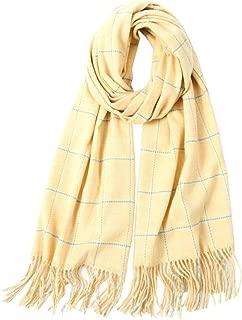 Winter Women Scarves,Tartan Soft Warm Spinning Tassel Touch Plaid Blanket Big Long Checked Silk Satin Scarf Print Shawls