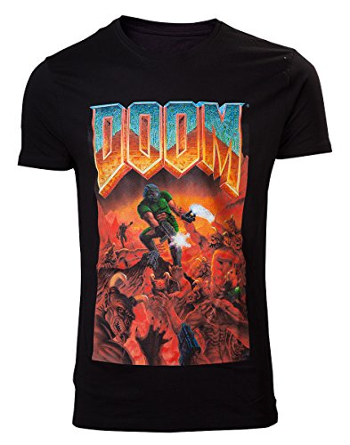 DOOM T-Shirt -L- Box Art, schwarz