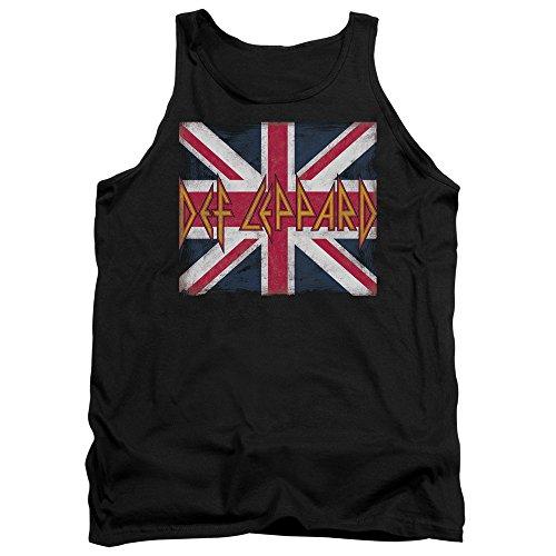 Def Leppard - - Débardeur Union Jack pour hommes, XX-Large, Black