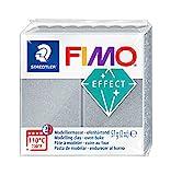 Staedtler 8020-81 - Fimo Effect Normalblock, 57 g, silber metallic