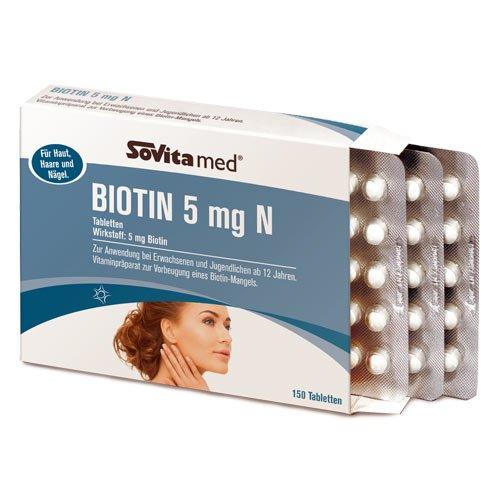 Biotin 5mg N Vitamin-Tabletten für Haare, Haut und Nägel