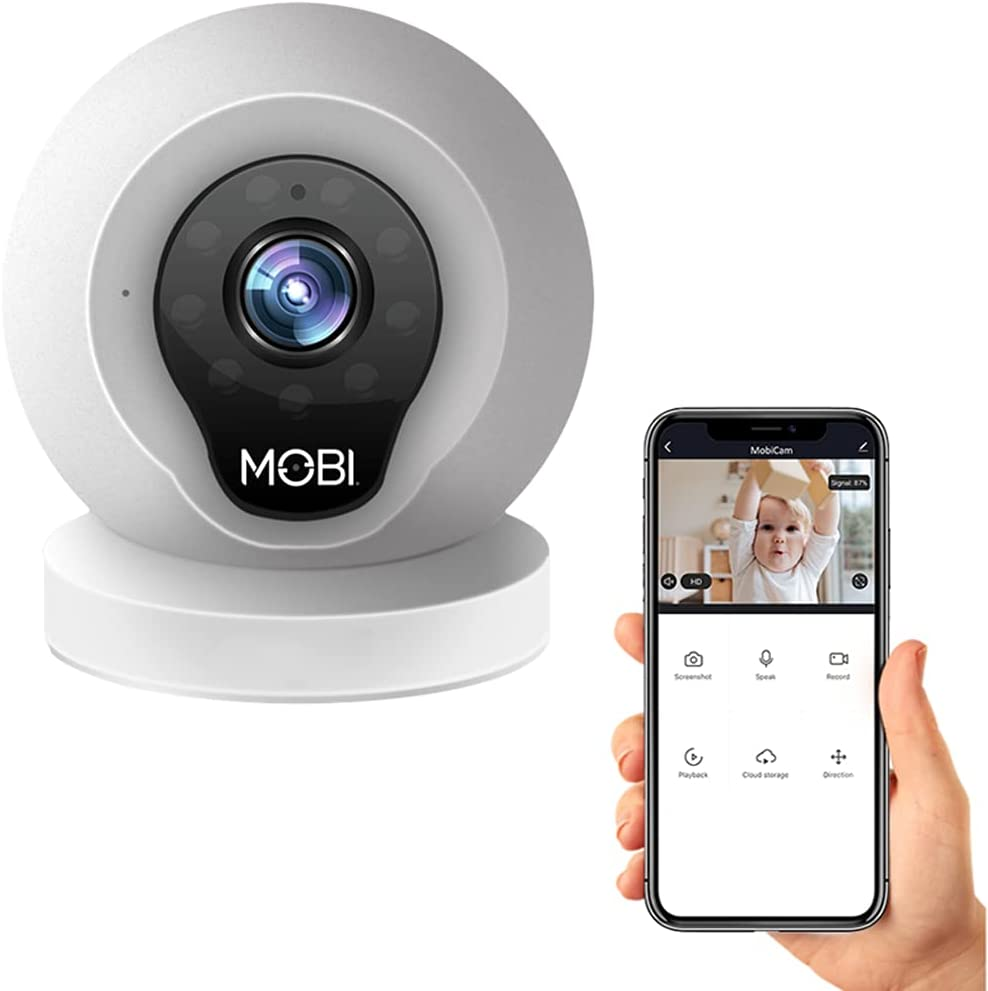 Mobi - MobiCam Indoor Camera - Baby Monitor with Camera and Audio - Smartphone and Wi-Fi Access