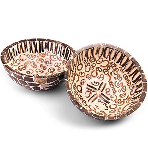 Mamatura Cinnamon Bowl | Dekoschale mit Zimt-Geruch | Aus echter Kokosnuss & echten Zimtstangen | Handarbeit aus Bali