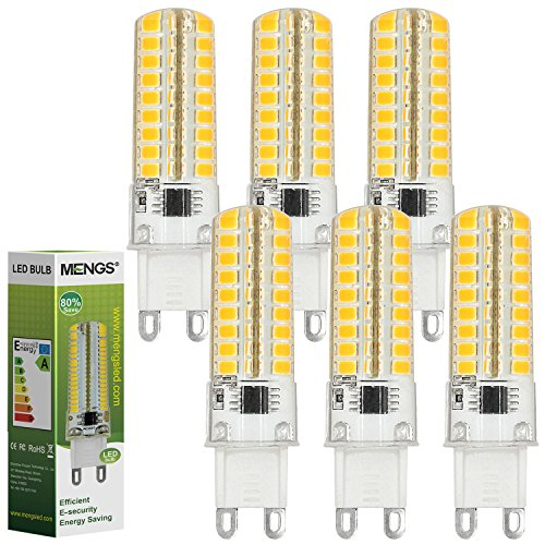 MENGS® 6 Stück G9 LED Lampe 7W AC 220-240V Warmweiß 3000K 72x2835 SMD Mit Silikon Mantel