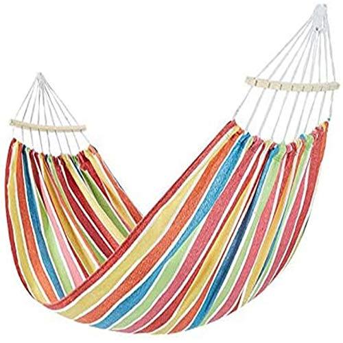 Hamaca portátil para Acampar, Hamaca Individual de algodón Peinado para Exteriores, para mochileros, Viajes, Playa, Patio