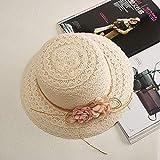 Sombreros De Paja Gorra De Mujer Sombrero De Pescador De Algodón De Seda con Diseño Floral Simple De...