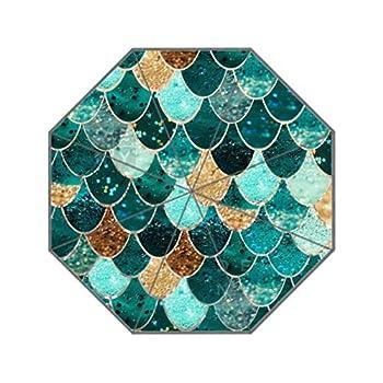 Reong mermaid scales Folding Umbrella For Girls Women Sunscreen Uv 3- section aluminium Umbrellas
