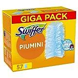 swiffer duster ricambi per piumino cattura polvere 57 pezzi, catturano e intrappolano fino a 3 volte polvere e peli rispetto a un piumino tradizionale