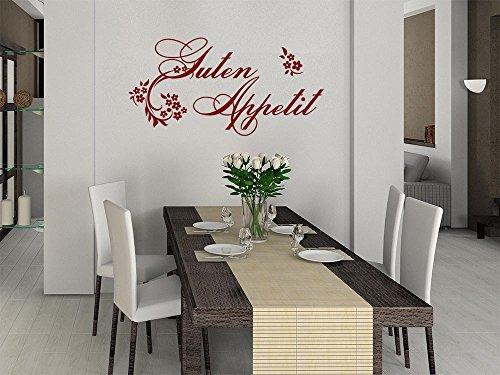 GRAZDesign Küchendeko Dekorfolie Ornamente, Wandgestaltung Küche Sprüche, Wandtattoo Küche Guten Appetit / 60x30cm / 070 schwarz