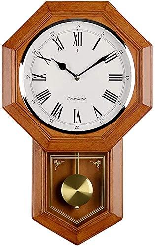 ZHIRCEKE Reloj de Pared Antiguo Reloj de Madera de Cuarzo de