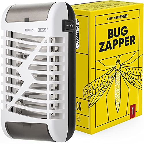 BRISON Bug Zapper for Home - Electric Fly Trap Indoor Plug in - Mosquito Fly Insects Killer with 8 Lights 1 Pack