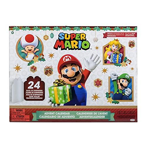 Super Mario Calendario de Adviento Edición Limitada de Navidad – Nunca antes visto Santa Mario, muñeco de nieve Mario & Luigi [Exclusivo de Amazon]