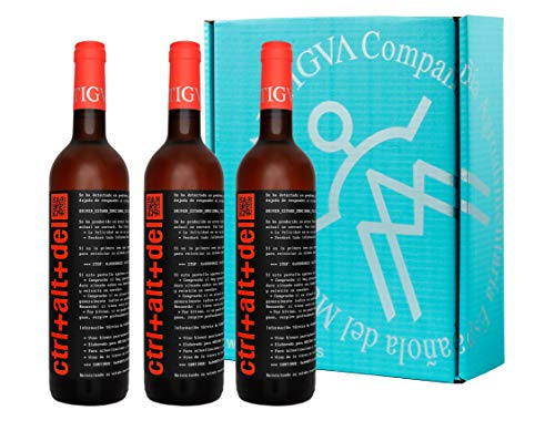 Ctrl+Alt+Del Rosado Semi-dulce - Vino Joven de la Tierra de Castilla - La Mancha - Estuche de 3 Botellas x 750 ml