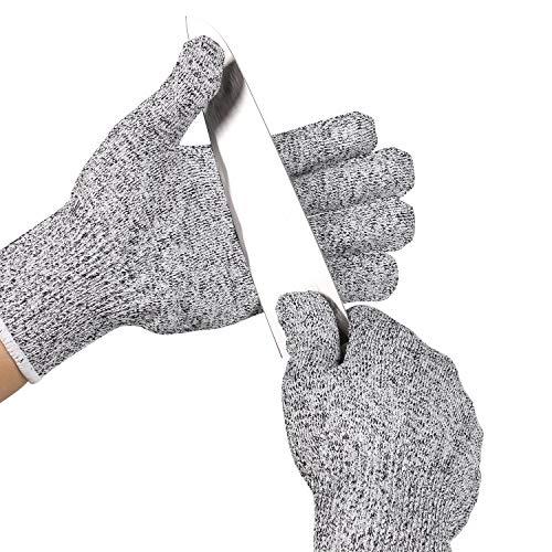 ThreeH Schnittfeste Handschuhe Stufe 5 Sichere Küchenhandschuhe zum Schneiden von Fleisch, Schnitzen, Schlachten, Schnitzen GL02 S