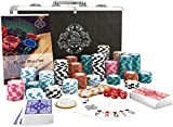 Bullets Playing Cards - Pokerkoffer Deluxe Pokerset mit 300 Clay