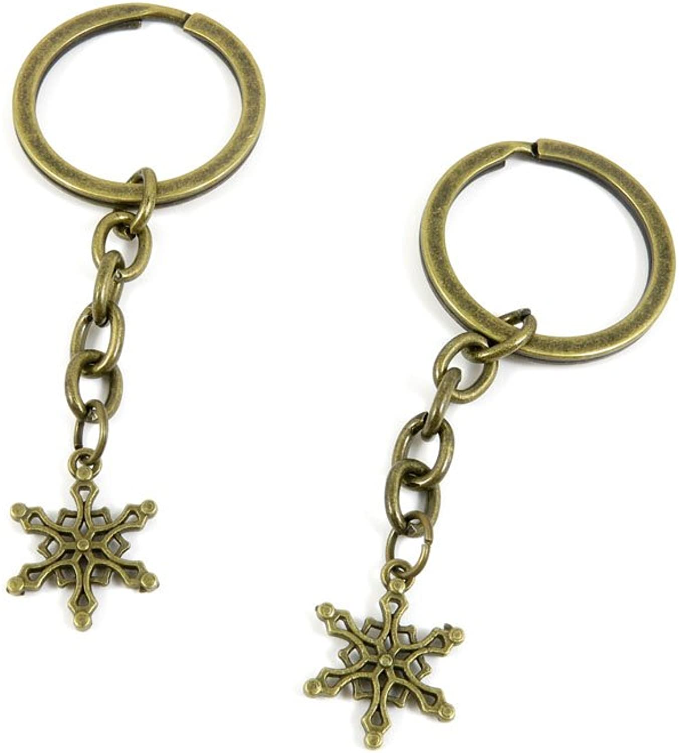 220 Pieces Fashion Jewelry Keyring Keychain Door Car Key Tag Ring Chain Supplier Supply Wholesale Bulk Lots K7WM4 Snowflake Snow Flake