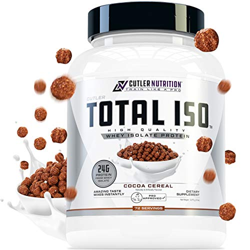 Total ISO Whey Isolate Protein Powder: Best Tasting Whey Protein Shake Featuring 100% Whey Protein Isolate, Perfect Post Workout Protein Powder Mix and Meal Replacement Drink, Cocoa Cereal, 5 Pounds