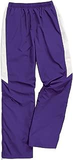 purple nylon pants