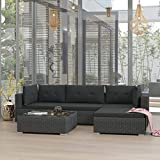 <span class='highlight'>Festnight</span> <span class='highlight'>Rattan</span> <span class='highlight'>Garden</span> <span class='highlight'>Furniture</span> <span class='highlight'>Set</span> <span class='highlight'>Lounge</span> Corner Sofa and Table with Cushions Outdoor Patio <span class='highlight'>Furniture</span> <span class='highlight'>Set</span> Poly <span class='highlight'>Rattan</span> Black