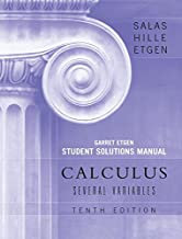 Student Solutions Manual to accompany Calculus: Several Variables, 10e (Chapters 13 - 19)